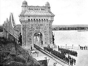 Anghel Saligny Bridge - Image: Podul Regele Carol I