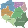 Polen Regios kaart.png
