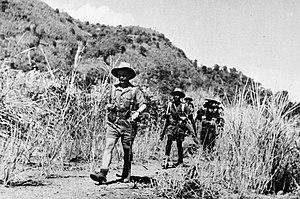 Gambia Regiment - Gambia Regiment on patrol in WWII.