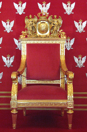 Polish throne at Warsaw Royal Castle