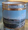 Porcellana di vienna, 1800 circa, servito con vedute di vienna prima della costruzione del ring, tazzina 01.JPG