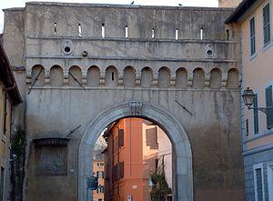 Porta Settimiana - Porta Settimiana, outer side