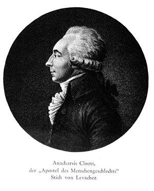 Anacharsis Cloots - Baron de Cloots engraved by Levachez