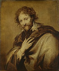 Anthony van Dyck: Portrait of a man, identified as Peter Paul Rubens (1577-1640). Painter and diplomat