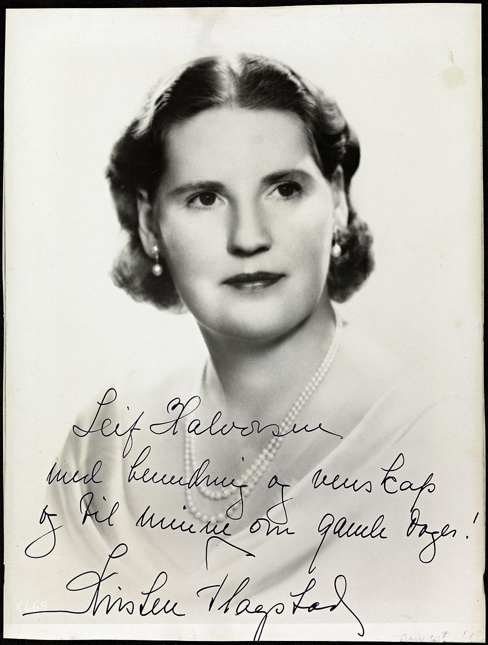 Portrett av Kirsten Flagstad, ca 1940-45 II