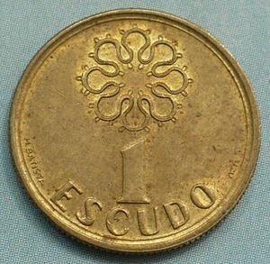 Portuguese escudo - Image: Portugal 1 escudo