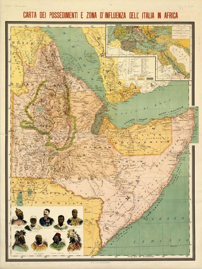 Possessions italiennes en Afrique-1896