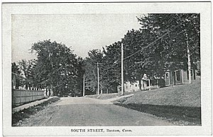 Bantam, Connecticut - South Street, about 1910 (postcard picture)