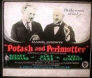 Potash and Perlmutter - Lantern slide for the film