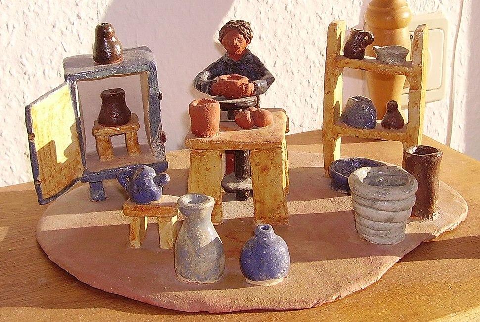 Pottered pottery