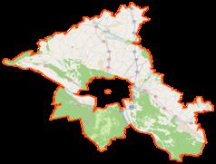 Mapa lokalizacyjna powiatu toruńskiego