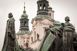 Czechoslovak Hussite Church - Jan Hus Memorial and St. Nicholas Church, Prague