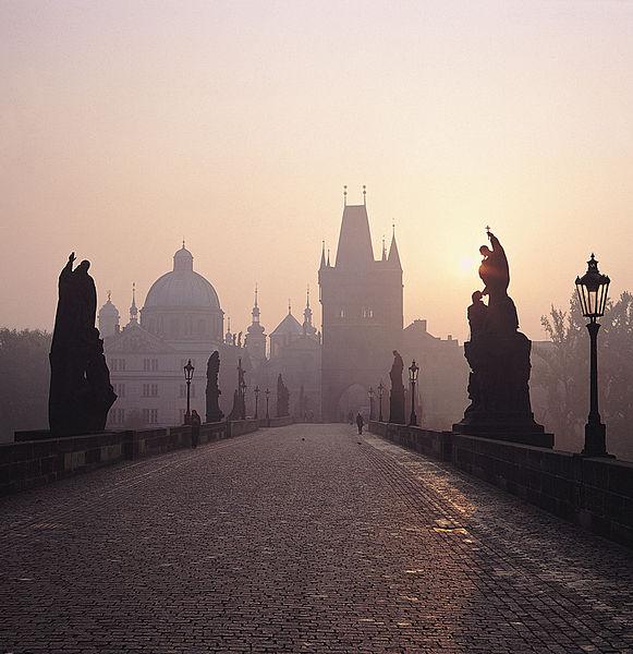 File:Prague charles bridge morning.jpg