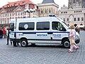 Prague police Renault Master in Old Town Square.JPG