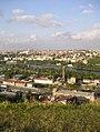 Praha - Děvín - View ENE on Císařská louka & Podolská vodárna (Praha 4).jpg