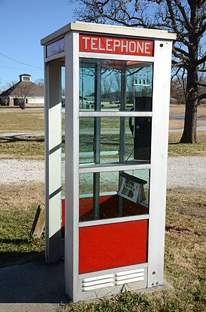 Prairie Grove Airlight Outdoor Telephone Booth - Image: Prairie Grove Airlight Outdoor Telephone Booth 5 of 5