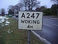 Pre Worboys sign Burntcommon - geograph.org.uk - 1153944.jpg