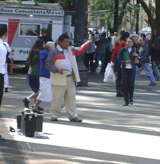 Preacher - Preacher in Praça da Sé, Sao Paulo, Brasil.