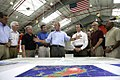 President Arrives in Alabama, Briefed on Hurricane Katrina.jpg