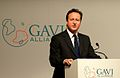 Prime Minister David Cameron, speaking at the opening of the GAVI Alliance immunisations pledging conference in London, June 13 2011.jpg