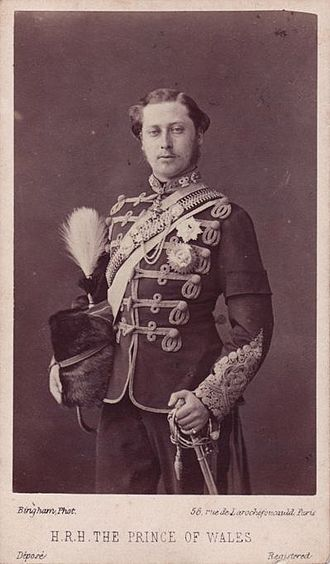 10th Royal Hussars - HRH The Prince of Wales dressed as Colonel of the 10th Hussars, 1860s