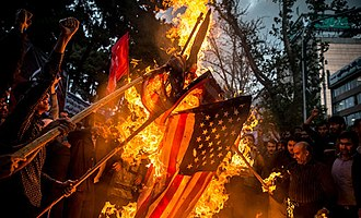 United States withdrawal from the Joint Comprehensive Plan of Action - Protests around former U.S. embassy in Tehran, 8 May 2018