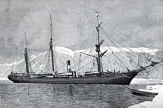 Adolphus Greely - Steamer Proteus in Arctic 1881