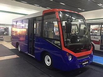 Public Utility Vehicle Modernization Program - A prototype of a modernized jeepney made by Isuzu Motors.