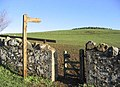 Public footpath sign - geograph.org.uk - 301849.jpg