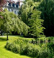 Public garden in Tours, France