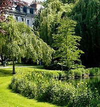Public park in Tours, France.