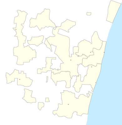 Location map India Puducherry