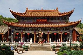 Qiongzhu Temple building in China