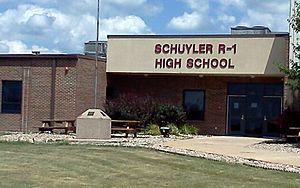 Schuyler County, Missouri - Entrance to Schuyler County R-1 High School