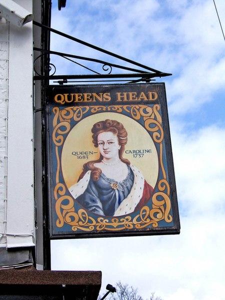 file queens head pub sign wolverley. Black Bedroom Furniture Sets. Home Design Ideas