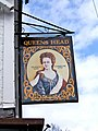 Queens Head pub sign, Wolverley - geograph.org.uk - 777768.jpg