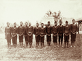 Queensland State Archives 2536 Native constabulary in uniform at Daru 1898.png