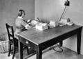 Queensland State Archives 2889 Pressing laundry at the Ophthalmic Hostel Wilston Brisbane August 1946.png