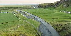Río Skógá desde Skógafoss, Suðurland, Islandia, 2014-08-16, DD 183-185 HDR.JPG