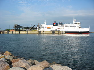 Transport in Denmark - Rødbyhavn ferry terminal on Lolland