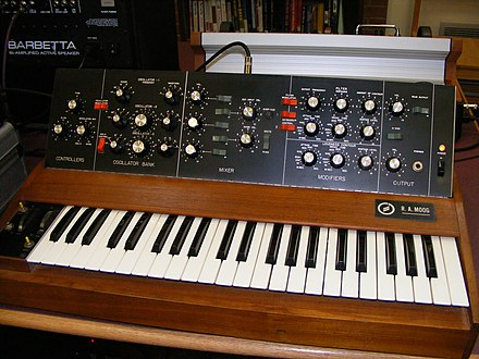 Early Minimoog by R.A. Moog Inc. (ca. 1970) R.A.Moog minimoog 2.jpg