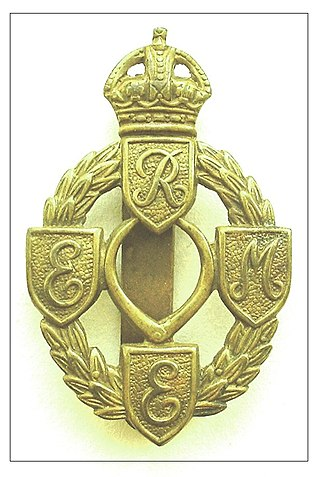 Royal Electrical and Mechanical Engineers - REME Cap Badge First version - in service 1942 - 1947