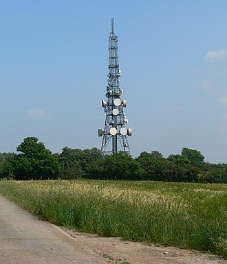 BBC Radio Leicester - Copt Oak transmitter next to the M1 motorway.