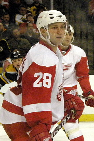Brian Rafalski - Rafalski pictured in 2008 with the Detroit Red Wings
