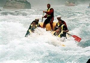 Tara (river) - Rafting on Tara River in Montenegro.