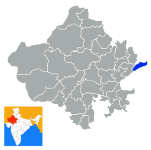 Dholpur district - Location in Rajasthan