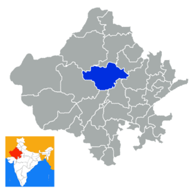 Localisation de District de Nagaur