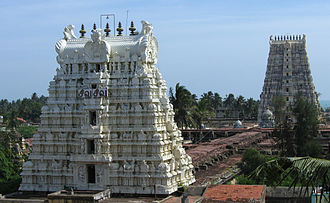 Ramanathaswamy Temple - Image of the east and west temple towers