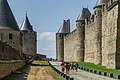 Ramparts of the historic fortified city of Carcassone 15.jpg