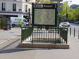Raspail (Paris Métro) - Image: Raspail métro ES